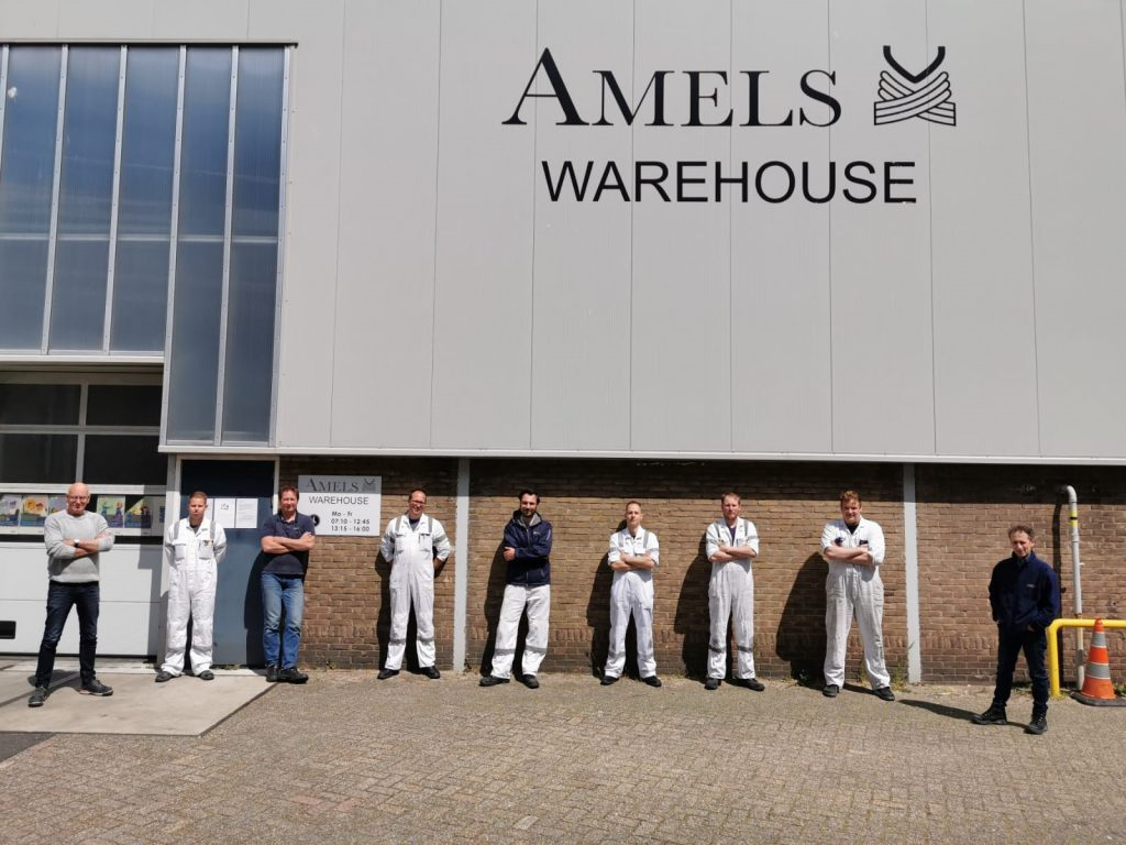 Damen Yachting warehouse team