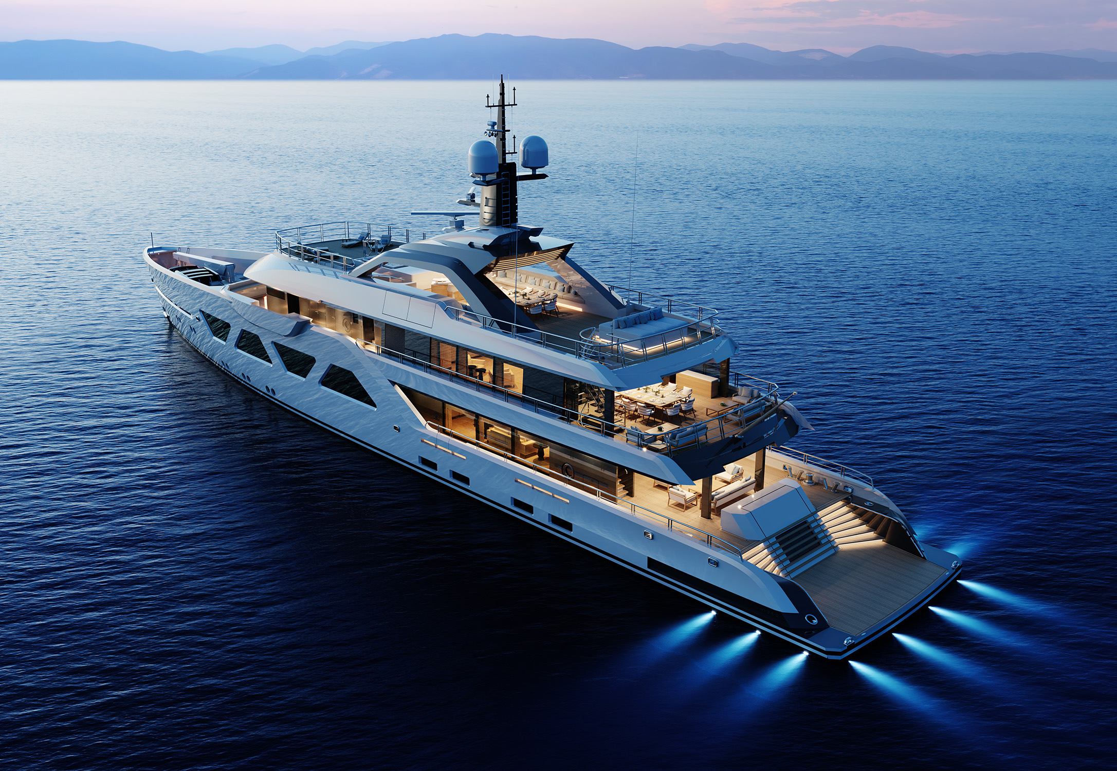Paper model yacht Amels 60